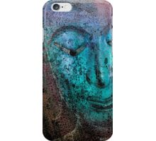 Buddha Face bluish iPhone Case/Skin
