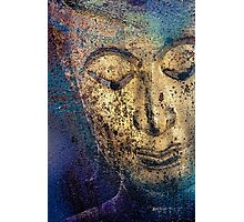 Buddha Face gold Photographic Print