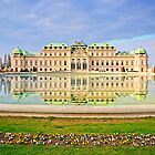 Imperial Austria - Reflection of the Belvedere in Spring by Delfino