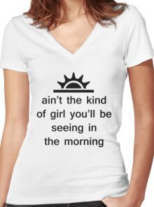 The Weeknd - The Morning Women's Fitted V-Neck T-Shirt