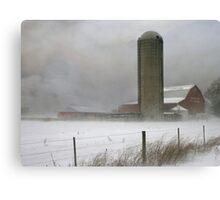 Blizzard On The Farm Canvas Print
