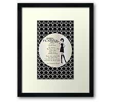 Gatsby Girl Recipe To Be A 1920s Flapper Girl (in black silver & pearl) Framed Print