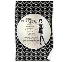 Gatsby Girl Recipe To Be A 1920s Flapper Girl (in black silver & pearl) Poster
