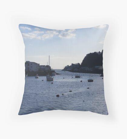 Portmadog Harbour Throw Pillow