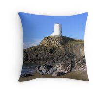 LLanddywn Lighthouse Throw Pillow