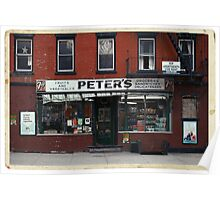 Peter's Bodega in the Lower East Side - Kodachrome Postcards  Poster