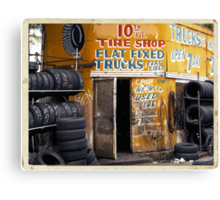 10th Avenue Tire Shop in the West Village - Kodachrome Postcards of vintage store signs in NYC  Canvas Print