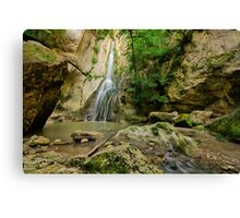 Barbennaz waterfall, another view Canvas Print
