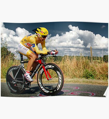 CARLOS SASTRE, 2008 TOUR DE FRANCE CHAMPION Poster