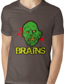 BRAINS! Mens V-Neck T-Shirt