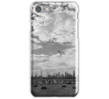City view Black and White iPhone Case/Skin