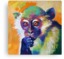 Thinking Monkey Canvas Print