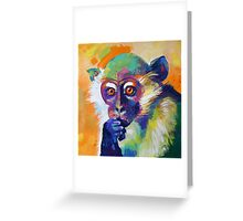 Thinking Monkey Greeting Card