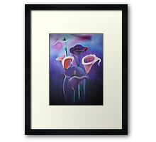 Purple Calla's Framed Print
