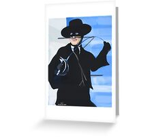Zorro Greeting Card