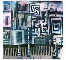 Industrial Urban - Collaged Solar Prints Poster