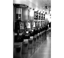 London Bus Station Photographic Print