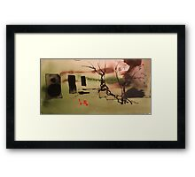 a fleeting moment of zen Framed Print