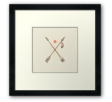 Crossed Arrows Framed Print