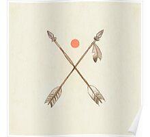 Crossed Arrows Poster