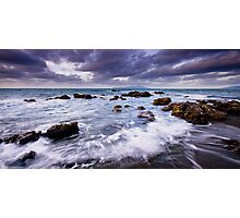 Pukerua Bay Backwash Photographic Print