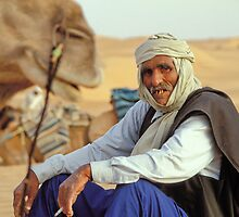 Camel Driver's break, Tunisia by guyp