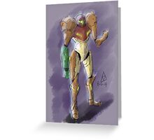 Samus Aran - Bounty Hunter Greeting Card