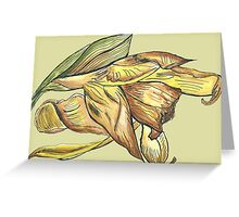 Messy daffodil painting Greeting Card