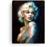 Marilyn WW blue Canvas Print