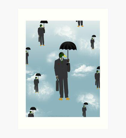 Mallard Magritte Art Print