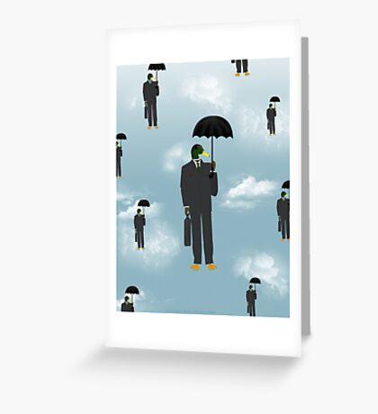 Mallard Magritte Greeting Card
