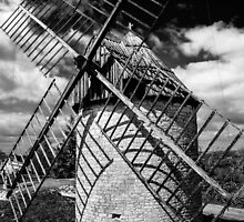 Windmill Castelnau by TonyPriestley