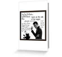 Moriarty Villain Quotes Greeting Card