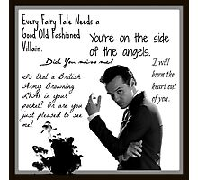 Moriarty Villain Quotes Photographic Print