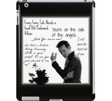 Moriarty Villain Quotes iPad Case/Skin