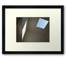 Blue Sky, White Light Framed Print