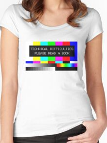 Please read a book Women's Fitted Scoop T-Shirt