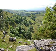 View From The Top Of Malham Cove by Graham Geldard