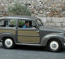 """ANTIQUE FIAT WAGON""..... TAORMINA, SICILY, ITALY by Edward J. Laquale"