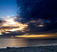 Sunset over the Pebbles by Robert Kendall