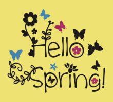 Hello spring One Piece - Short Sleeve