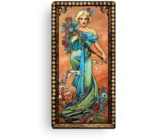MM mucha like beige Canvas Print