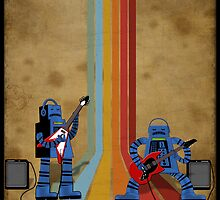 Retro Robot Rock by surlana
