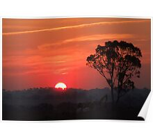 Late Summer Sunset Poster