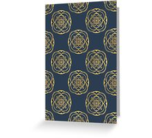 Nights in Blue and Gold Greeting Card