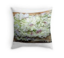 Chili Dogs With Creamy Coleslaw Throw Pillow