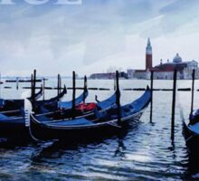 Gondolas of Venice Sticker