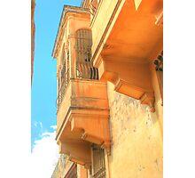 Balcony in Mdina Photographic Print