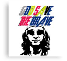 God Save The Brave Canvas Print
