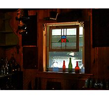 Bottles in a Window Photographic Print